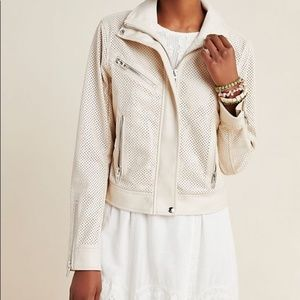 NWT BLANK NYC Perforated Faux Leather Moto Jacket